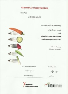 certyfikat konferencja dietetykwkrakowie.pl