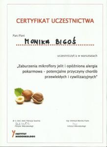 certyfikat mikrobiota