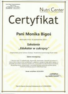 skan certyfikat edukator cukrzycy
