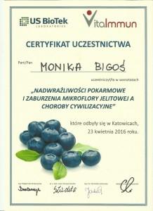certydfikat dietetykwkrakowie.pl Nietolerancje pokarmowe