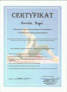 certyfikat ćwiczenia mięśni dna miednicy