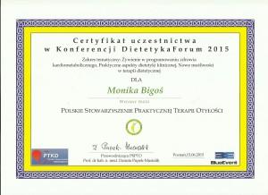 dietetykwkrakowie.pl certyfikat Dietetyka Forum