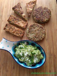 Ciasto/chlebek z brokuła z pastą z bobu, parmezanu i szczypiorku